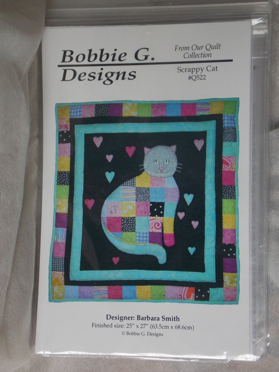 pattern bobbie g designs barbara smith scrappy cat quilt
