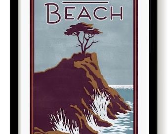 Monterey California  poster print  unframed and framed