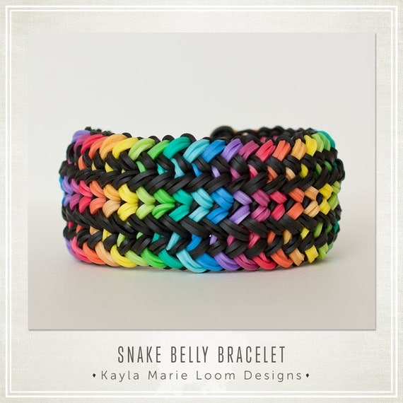 rainbow loom bracelet snake belly