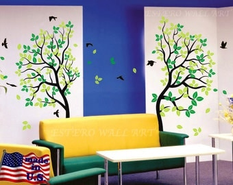 """Removable wall Stickers """"Love Tree"""", Removable Wall Decals, Nursery wall decal, home decor, tree"""