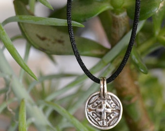 Handmade Fine Silver Cross Pendant Necklace:  perfect Confirmation gift