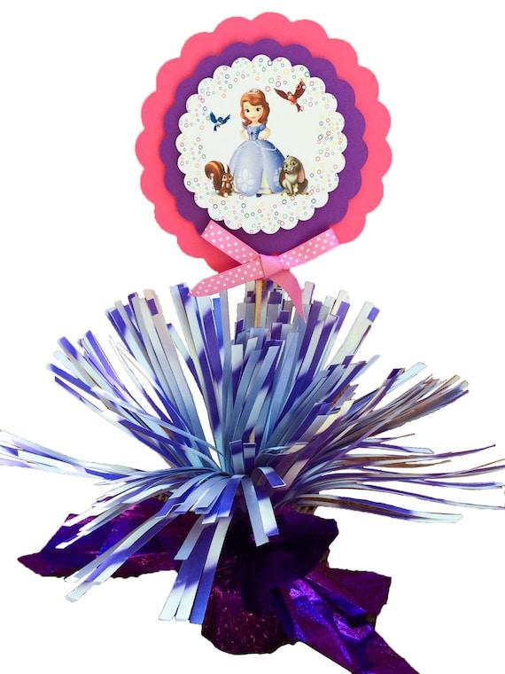 Sofia the first centerpiece balloon weight