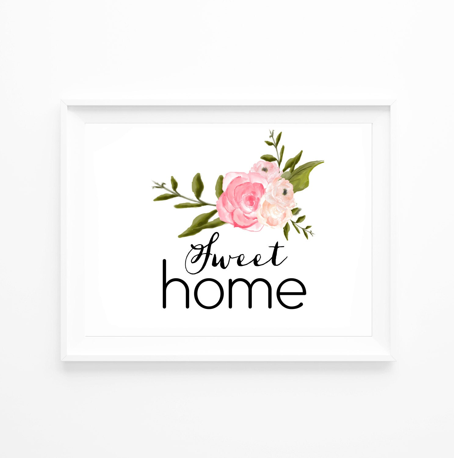 50 off home sweet inspirational quote wall decor typography for Home decor 50 off