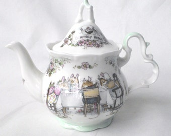 Royal Doulton Brambly Hedge miniature tea service teapot 1985 - boxed