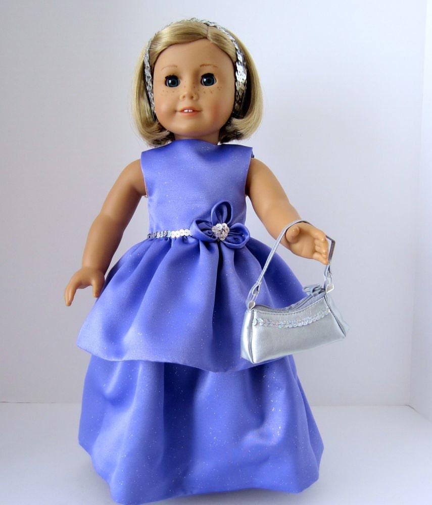 American girl doll prom dress long or short by for American girl wedding dress