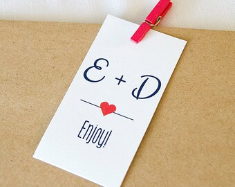 Wedding Favor Tags, Enjoy Custom Wedding Tags, Custom Wedding Hang Tags  (RT-018)