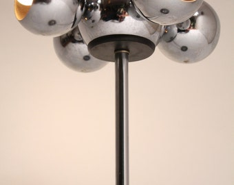 27 inches CHROME EYEBALL table lamp 4 head retro vintage mid century 70s  era made in USA