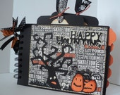 """Halloween Mini Album. It has 2 covers,10 pages (7 1/4"""" x 5 1/4"""" ) with 5 big pockets, 5 big inserts and 8 tags."""