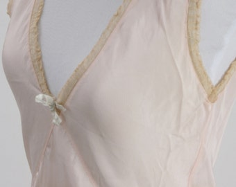 1930's Nightgown, Nightgown, Vintage Nightgown, Lingerie, Art Deco Nightgown, Vintage Lingerie, 1930s Nightgown, Vintage Pink Nightgown