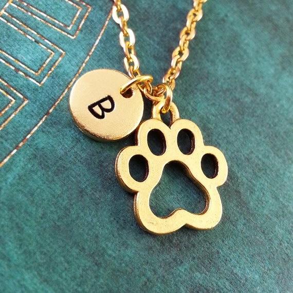 paw print necklace personalized necklace pet necklace custom