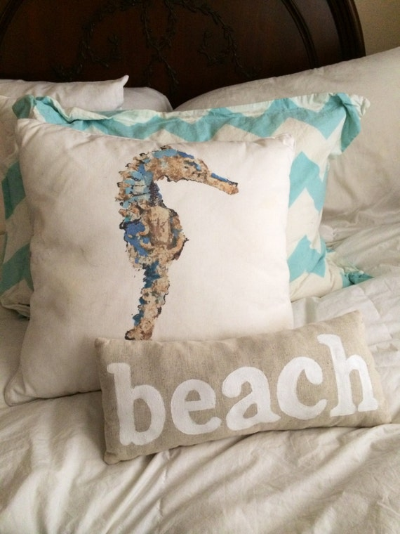 beach throw pillow coastal inspired home by theseasetsyoufree