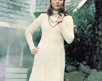 Vintage Knitted Ladies Dress Pattern
