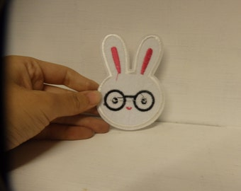 3 bunny rabbit applique embroidery patch sew on iron on