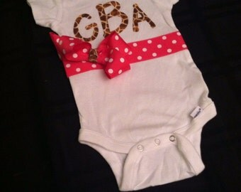 Customized monogrammed (3 letter) outfit!