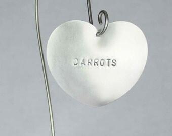 Carrots -  Vegetable Garden Marker, Stainless Steel.