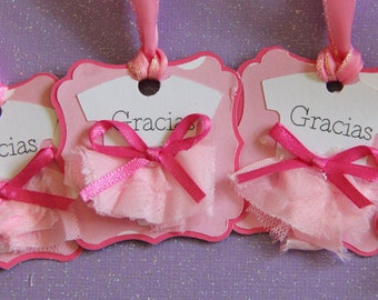 Ballerina Tutu Favor Tags, Tutu Birthday Favors, Ballerina Favors
