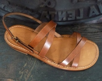 Handcrafted Sandals Women natural vegetable Leather