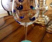 Beach Wine Glass - Whale Wine Glass - Ocean Wine Glass - Sea Wine Glass- Personalized Wine Glass