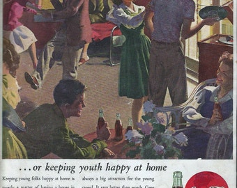 Original Coke ad from 1944 Saturday Evening Post