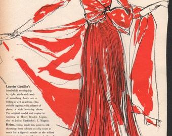 Fashion photo/illustration, Vogue or Harpers Bazaar, 9x12 in - fash425