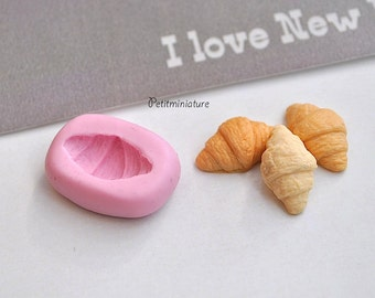 BREAD MOLD ST011 croissant bakery flexible silicone mold polymer clay jewelry charms sweet dollhouse miniature food kawaii cabochon