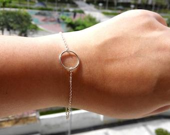 Silver Karma Bracelet, O Ring Bracelet, Sterling Silver Eternity bracelet, Infinity bracelet, Bridesmaid gift, Karma Bracelet, Karma Jewelry