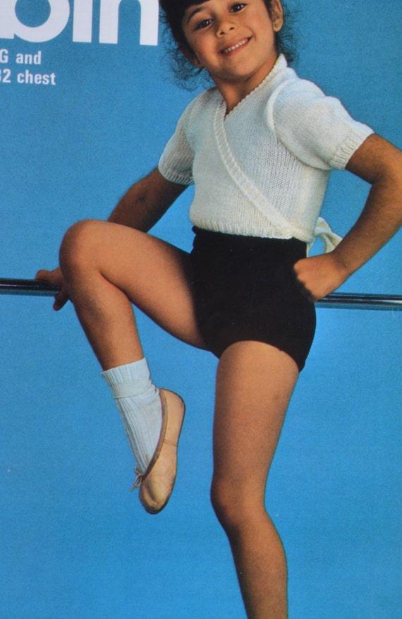 Knitting Pattern Childs Ballet Cardigan : Vintage knitting pattern ballet childs cardigan wrap pdf