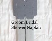 Bridal Shower Wedding Bride Groom Bridal Shower Napkins Tux Napkins