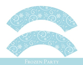Frozen Cupcake wrappers, cupcake wrapper printable, cupcake label printable, Frozen Inspired Party Printable, Princess Party Decorations