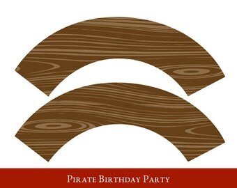 Pirate Cupcake wrappers, cupcake wrapper printable, cupcake label printable, Pirate Party Printable, Pirate Party Decorations
