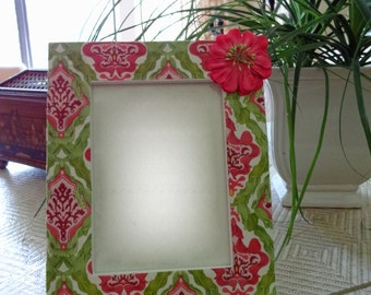 5 x 7 Fabric Decoupage Picture Frame