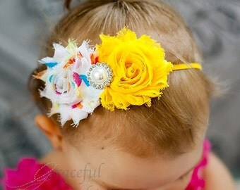 Beautiful Baby Headband, Shabby Flower Head Band, Newborn Hairband, Baby Headband, Baby Hair Accessory  - HB0050