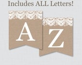 Burlap and Lace Banner wi...