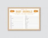 Baby Animals Name Game Pu...