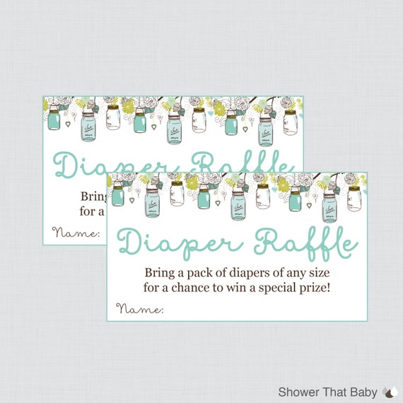 baby shower diaper raffle cards and sign printable download mason