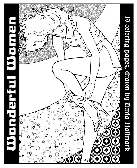 wonderful women coloring book 19 sexy drawings to color - Sexy Coloring Book