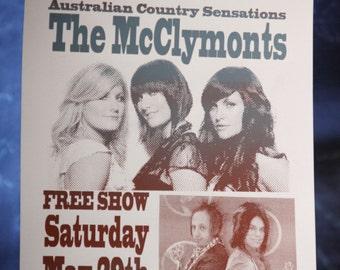 Blackbox, The McClymonts-Chicago May 2011 Silkscreen Concert Poster
