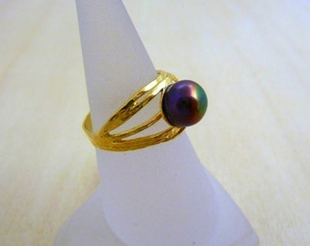 Pearl Ring GOLD Filled ring  gold rings for women birthstone ring
