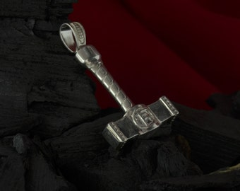 Silver Handmade 0.64oz 18g THORS HAMMER Pendant Thor Necklace Viking MJOLNIR New