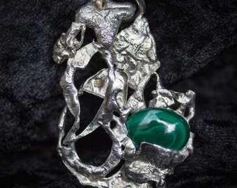 """Silver Pendant with Marcasite - """"Woodland Spirits"""""""
