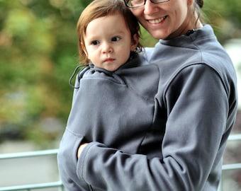Babywearing double fleece, baby carrying fleece, mother and baby