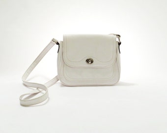 Small White Leather Shoulder Bag – Shoulder Travel Bag