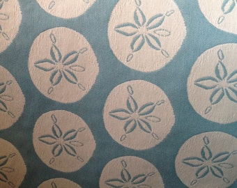 Sand-Dollar Beach Decor Fabric - Beach Decor - Coastal Upholstery Fabric By The Yard - Coastal Pillow Fabric - Beach Chair Fabric  -