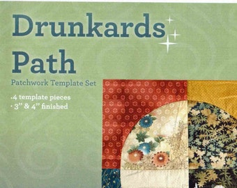 "Matilda's Own Drunkards Path 3"" & 4"" Patchwork Template Set"
