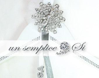 Wedding Dress Rhinestone Hanger, Personalized Hanger