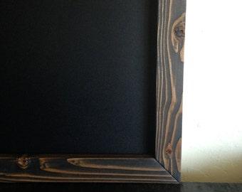 "Wood Chalkboard MAGNETIC 18""x24"" Reclaimed Wood, Rustic Wedding Chalkboard, Kitchen Chalkboard, Baby Chalkboard, Childrens Chalkboard"