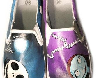 Custom Vans Hand-painted Shoes Nightmare Before Christmas
