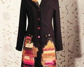 Jacket / coat or tunic with embroidered caftan style jacket design Ethnic Bohemian
