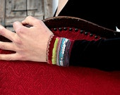 Vivid Colorful Cuff with a Twist - Groovy & Cool in Hipster-Gypsy-Boho chic