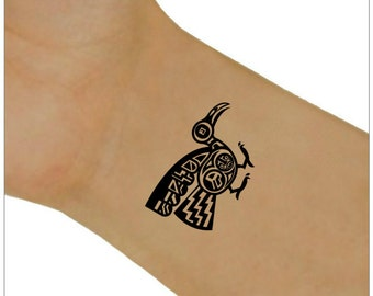 Temporary Tattoo Aztec Bird Waterproof Ultra Thin Realistic Fake Tattoos